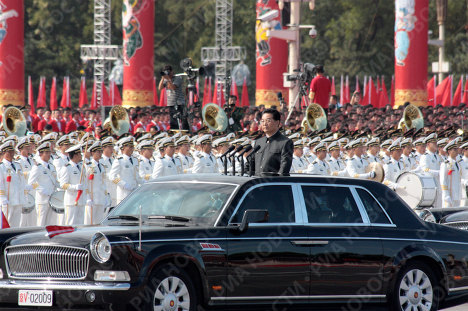 <p>Tanks on Tiananmen Square in central Beijing. President Hu Jintao received a military parade in celebration of the 60th anniversary of the People's Republic of China on October 1.</p>