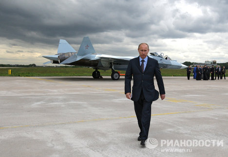 Russian Prime Minister Vladimir Putin arrived on June 17 in Zhukovsky, Moscow Region, to observe the test flight of a Russian fifth-generation fighter.
