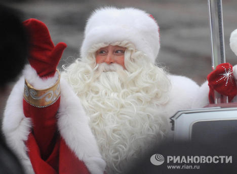 Russia celebrates the birthday of Father Frost on November 18. This is one of the most favorite children's characters and children all Russia are glad to meet him.