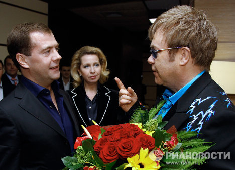 "Sir Elton John sent a personal invitation for Medvedev to his concert in November. In his letter the singer said: ""You are a true fan of modern rock music that unites people from all over the world, regardless of their racial, political and religious views. I'll be very grateful if you will accept my invitation.""<br /><br />"