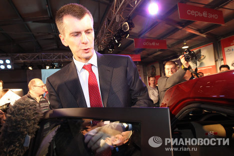 """Presenting the prototype for the """"yo-mobile"""" car on Monday, Mikhail Prokhorov, head of Onexim Group, said that the joint venture Yo-Avto (formerly Gorodskoy Avtomobil – City Car) is planning to establish auto assembly plants to produce the cars abroad."""