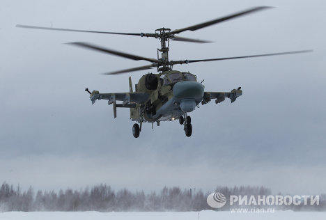 The Russian Air Force has received the first four Ka-52 Alligator (Hokum-B) multi-role attack helicopters.<br />