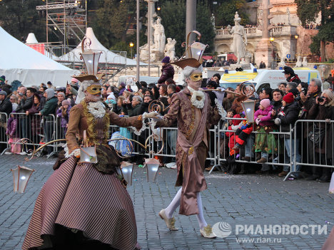Carnival has begun in Rome. Ancient Roman legionaries, Comedia del Arte characters and superheroes have converged on the Eternal City to celebrate for eleven days on end.