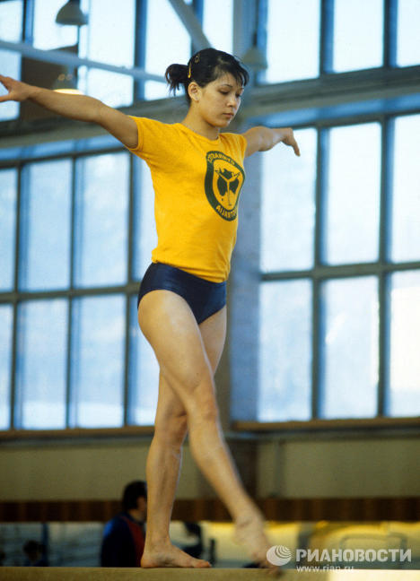 Nellie Kim, Merited Master of Sports in Artistic Gymnastics, won four Olympic gold medals.
