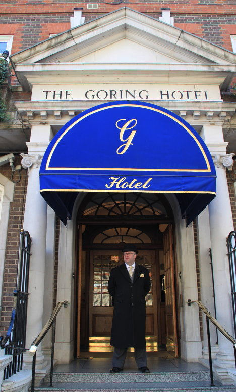 Kate Middleton will spend her last night as a single woman and a commoner at the posh Goring Hotel in Belgravia.