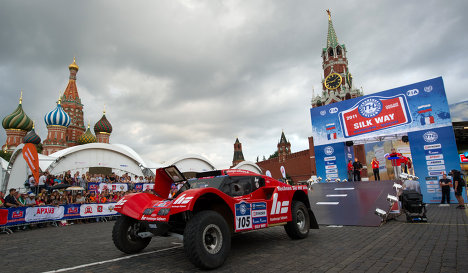 Silk Road Rally 2011 got off to a roaring start in Moscow July 9.