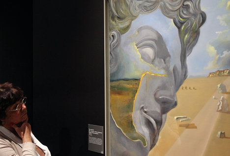 "A unique exhibition of the works of Salvador Dali has opened at the Pushkin State Museum of Fine Arts in Moscow. The exhibition includes original drawings by the surrealist artist, rather than copies. Photo: Untitled. After the Head of ""Giuliano di Medici"" by Michelangelo, 1981-1982."