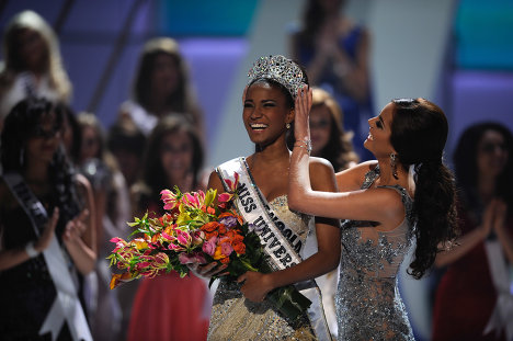 The Miss Universe title winner has the loan of a crown and a New York apartment.
