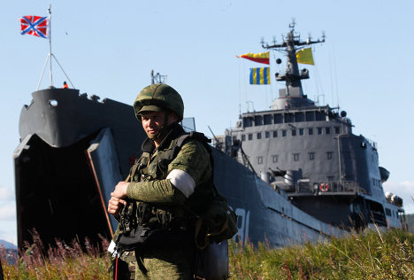 Over 500 marines gained control of Zavoiko Bay in Pacific Fleet tactical exercises.