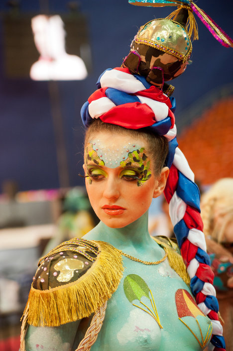 The Banks of the Neva River beauty festival took place in St. Petersburg. The body art competition was among the most exciting of the contests.