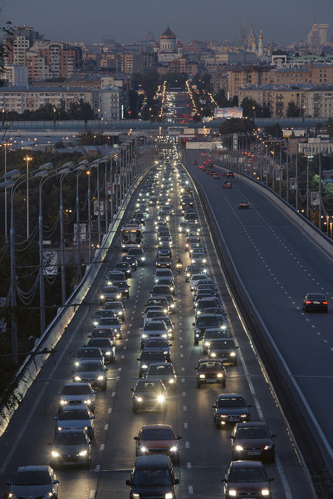 It's hard to do without a car in Moscow, Russia. There are no bicycle lanes, and the cramped public transit network leaves a lot to be desired. So, Moscow's motorists spend hours in traffic jams each day.