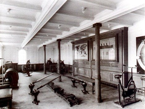 In the morning, rich passengers of the Titanic went to the gym. The bicycle was the most popular exerciser.