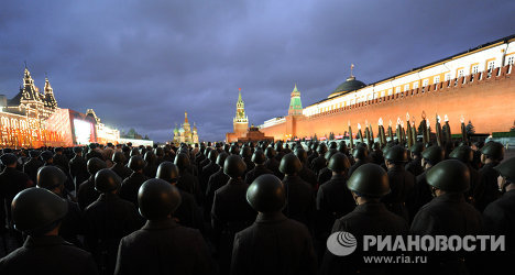On November 1, Moscow's Red Square hosted the rehearsal of a reenactment marking the 70th anniversary of the November 7, 1941, military parade.