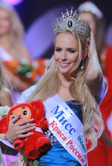 Natalya Pereverzeva, 23-year-old post-graduate student from Moscow grabbed the first prize at Russia Beauty – 2011 pageant. The girl studies at the Finance University under the Government of the Russian Federation. She will represent Russia at the Miss World beauty contest.