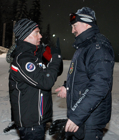 On January 23, Russian and Belarusian presidents Dmitry Medvedev and Alexander Lukashenko met at Krasnaya Polyana, a ski resort near Sochi.<br /><br />