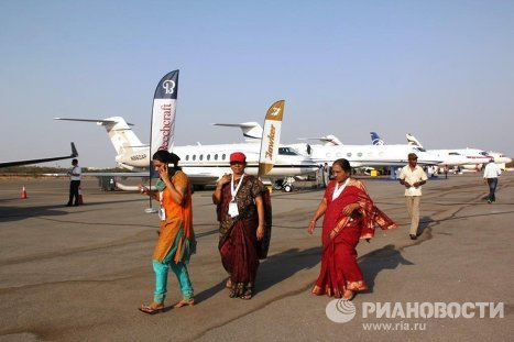 The Third International Air Show, India Aviation 2012, is being held in Hyderabad, India with the participation of civil aircraft and aircraft equipment manufacturers from 18 countries.