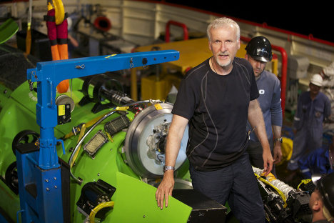 Director of Titanic James Cameron spent around six hours filming the ocean floor at the bottom of the Challenger Deep, the deepest point of the Mariana Trench at 11 km. He plans to release a documentary with National Geographic on his ocean dive.