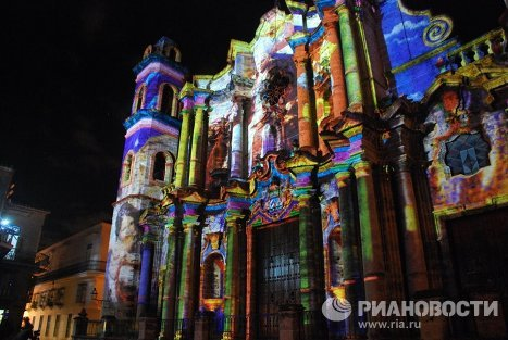 After Mexico, the Pope will head to Cuba. On the occasion of his visit, the Havana Cathedral, one of the most beautiful buildings in Old Havana, has been decorated by religious images, created by projections of light.