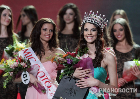 Kiev hosted the finals of the Miss Ukraine 2012 beauty pageant last weekend.  The 21-year-old brunette from Kharkiv, Karina Zhironkina, won the crown.