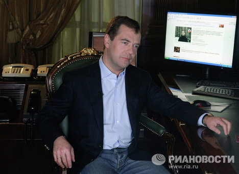 From the outset of his time in office, Dmitry Medvedev has sought to position himself as an active Internet user. He was the first official in Russia to make active use of blogs.