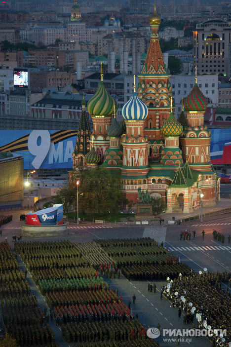 The last night-time rehearsal for the Victory Day Parade on May 9 has been held in Red Square.