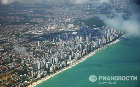 Recife is the capital of the state of Pernambuco, Brazil.