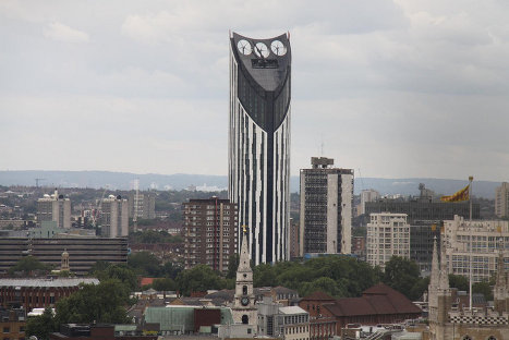 In the United Kingdom Building Design magazine has since 2006 been awarding the Carbuncle Cup annual prize to the ugliest building built in the country over the past 12 months. In 2010, the dubious honor of winning this competition went to the Strata Tower in south London.