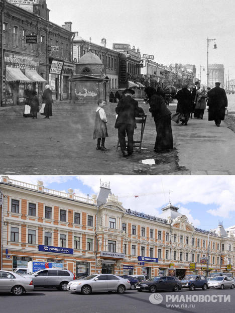 RIA Novosti presents a selection of photos showing how the city of Moscow has changed in the past 100 years. In these two photos, you can see what 1st Meshchanskaya Street, now Prospekt Mira, looked like back in 1914 and in 2008.
