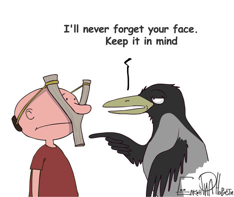 Don't Offend Crows, They'll Remember Your Face