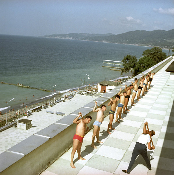 Exercise therapy at the Zapolyarye sanatorium on the Black Sea. (1971)